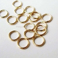 5mm 22 Gauge Closed (Soldered) Gold Filled Jump Rings Open (F29GFC) -50 pcs