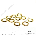 6mm 19 Gauge Closed (Soldered) Gold Filled Jump Rings Open (F29GFC) -20 pcs