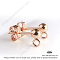 3mm Rose Gold Filled Ball Earring Post w/backings- 1 pr (F58RGF)