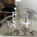 Star Fish Sterling Silver Charm 16mm x 10mm x 2mm  (F92)