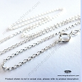 1.1mm Sterling Silver Rolo Chain Finished Necklace (FC3) - 20 in.