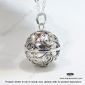 20mm Large Harmony Ball Bali Sterling Silver Pendant (P85)