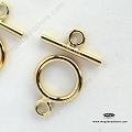 9mm 14K Gold Filled Toggles (T132GF) - 1 set