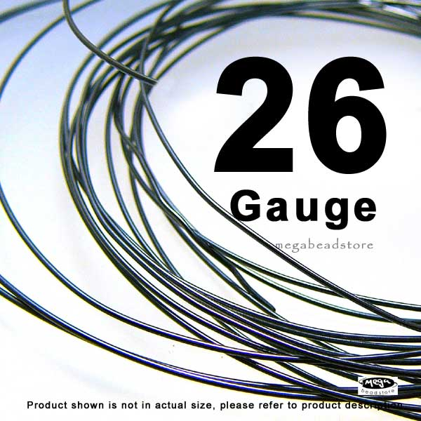 26 Gauge Wire >> 26 Gauge Dark Oxidized Sterling Silver Wires Hh 10 Ft