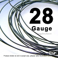 28 Gauge  Dark Oxidized Sterling Silver Wires  HH  20 Ft
