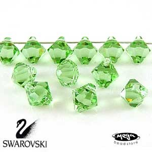 Peridot   Top Drill   6mm   12 pcs/pk