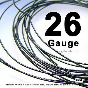 Gauge Dark Oxidized Sterling Silver Wires HH 10 Ft