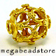 11mm x 10mm Barral Cage Gold Plated Sterling Silver Bead - 1 pc