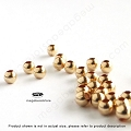 2mm (0.9mm hole) Round 14K Gold Filled Beads - 100 pieces