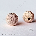 10mm Rose Gold Filled Stardust Beads (B39RGFSD)  1 pc