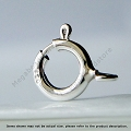 5.5mm  Spring Ring Sterling Silver Clasp (F286) -10 pieces