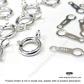 5.5mm Spring Ring Clasp and Tag Sterling Silver (F286)- 20 Sets