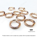 10mm 14 Gauge 14K Rose (Pink) Gold Filled Jump Rings Open- 10 pcs