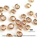 3.5mm 20.5 Gauge Rose Gold Filled Jump Rings Open -50 pcs