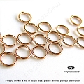 6mm 14k Rose Gold Filled Jump Rings Open 20 Gauge    25 pcs