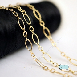 4mm Long and Short Pattern Cable Chain 14K Gold Filled CH12
