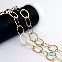 8mm x 6mm Flatten Oval Cable Chain 14K Gold Filled- CH26