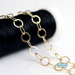 5mm Flatten Link Chain  14K Gold Filled Chain - CH5