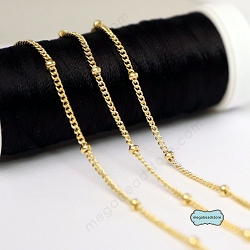 1.9mm Bead Satellite Curb Chain 14K Gold Filled- CH81