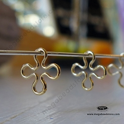 10mm Clover Connector 14K Gold Filled F34GF