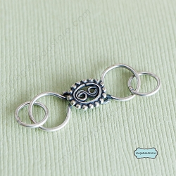 38mm Bali Sterling Silver S-Clasp T11