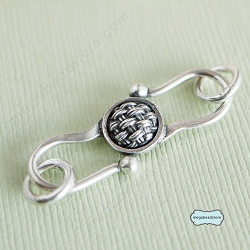 Bali Hand Basket Weaved Sterling Silver S-Clasp T52