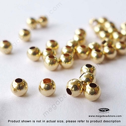 3mm Gold Filled Seamless Beads 1.3mm Hole (F39GF) - 25 pc
