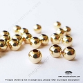 4mm Gold Filled Seamless Beads 1.6mm Hole -10 pieces