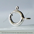 7mm Spring Ring Sterling Silver Clasp with Closed Ring (F286)-10 pieces